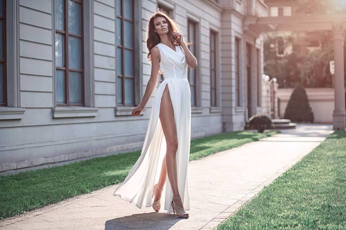 突出女神的高贵气质——长裙