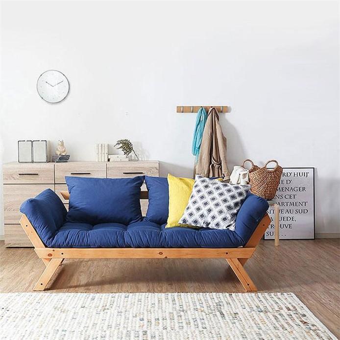 日式可折叠实木沙发床