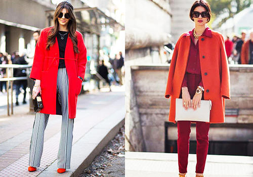 冷冷的秋季,来一件热力红衣,让时髦感飙升