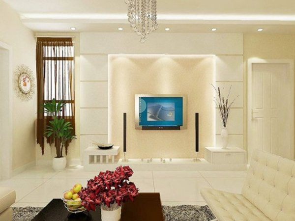 電視墻小怎么裝修好看 小戶型客廳電視墻裝修設計